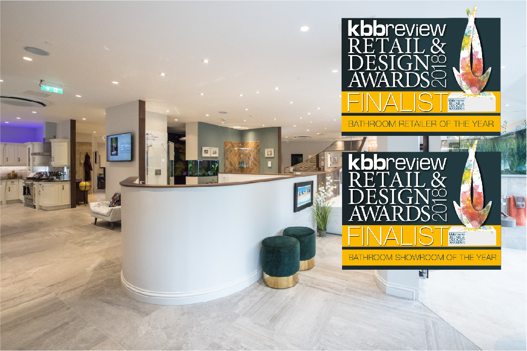 Finalist for kbbreview 2018 Bathroom and Showroom of the Year