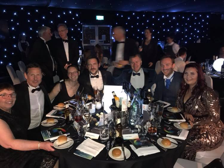Pictured is The Bathroom Company team at the 2018 Courier Business Awards in Dundee